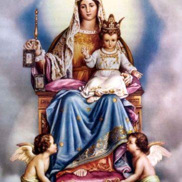 Calendario festività della Madonna del Carmine