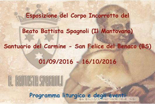 Esposizione del Beato Battista Spagnoli