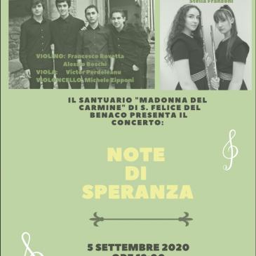 """CONCERTO """"NOTE DI SPERANZA"""""""